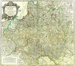 """Die Adelsrepublik, die Erste Rzeczpospolita, im Jahre 1752 mit dem in das Staatsgebiet eingegliederten Polnisch-Preußen (""""Prusse polonoise"""")"""