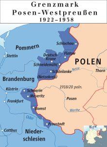 Historische Karte der Grenzmark Posen-Westpreußen