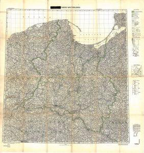 Historische Karte des Reichsgaus Danzig-Westpreußen (1939-1945)