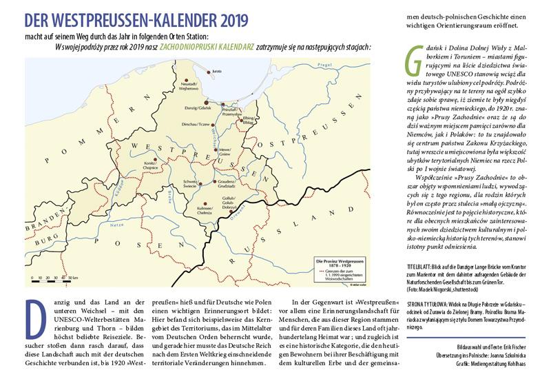 Einführung Westpreußen-Kalender 2019