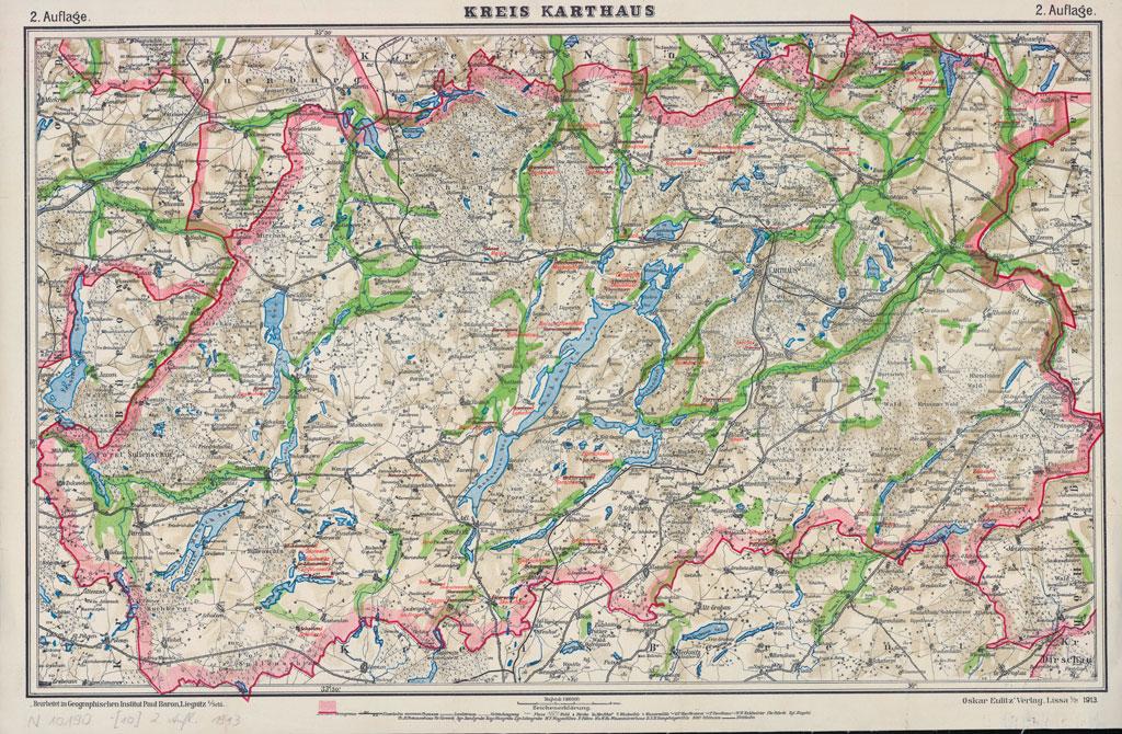Karte des Kreises Karthaus, 1913