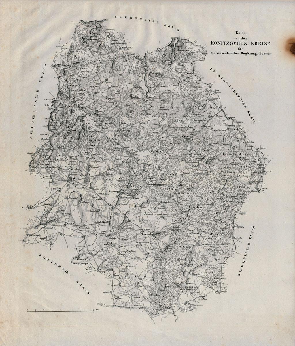 Karte des Konitzschen Kreises (etwa 1825)