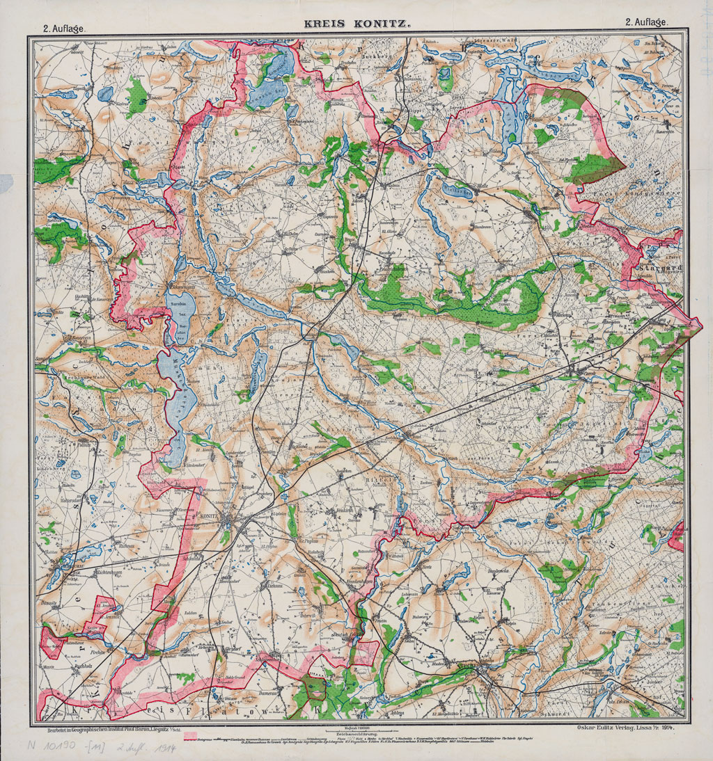 Karte des Kreises Konitz, 21914