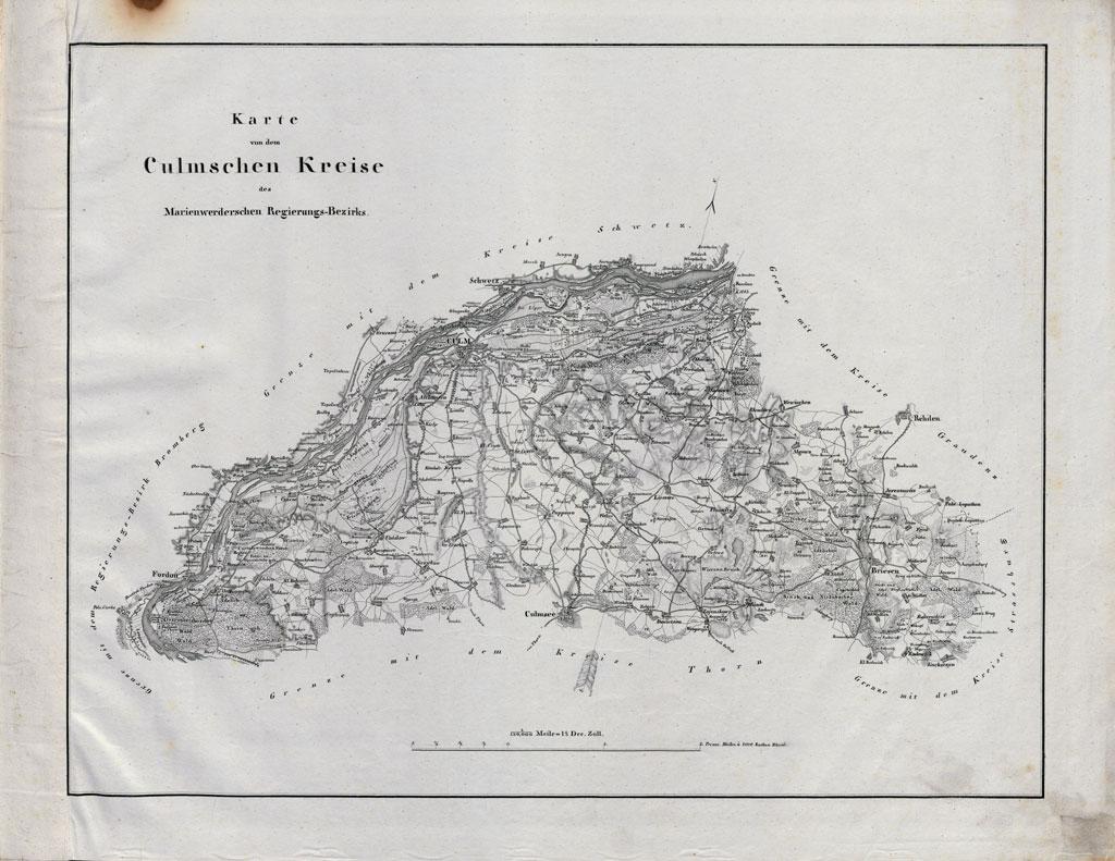 Karte des Culmschen Kreises (um 1837)