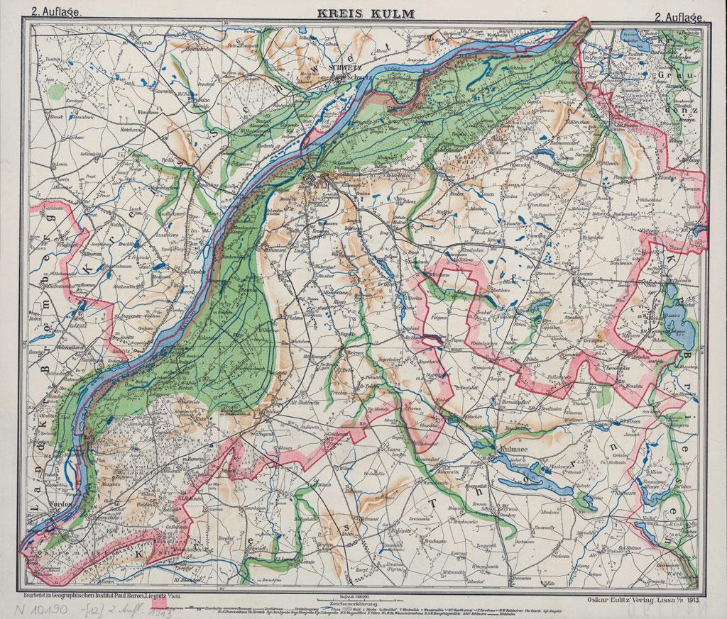 Karte des Kreises Kulm, 1913