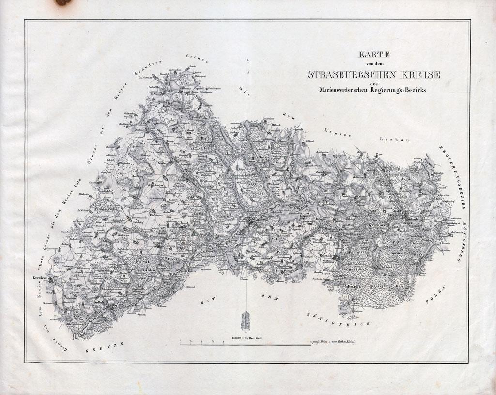 Karte des Strasburgschen Kreises (2. Viertel des 19. Jahrhunderts)