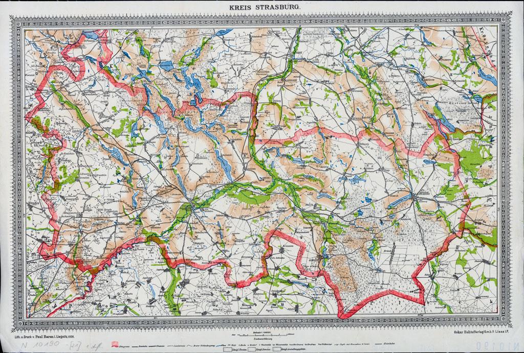 Karte des Kreises Strasburg, 1908