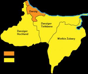 Karte Stadtbezirk und Kreis Danzig