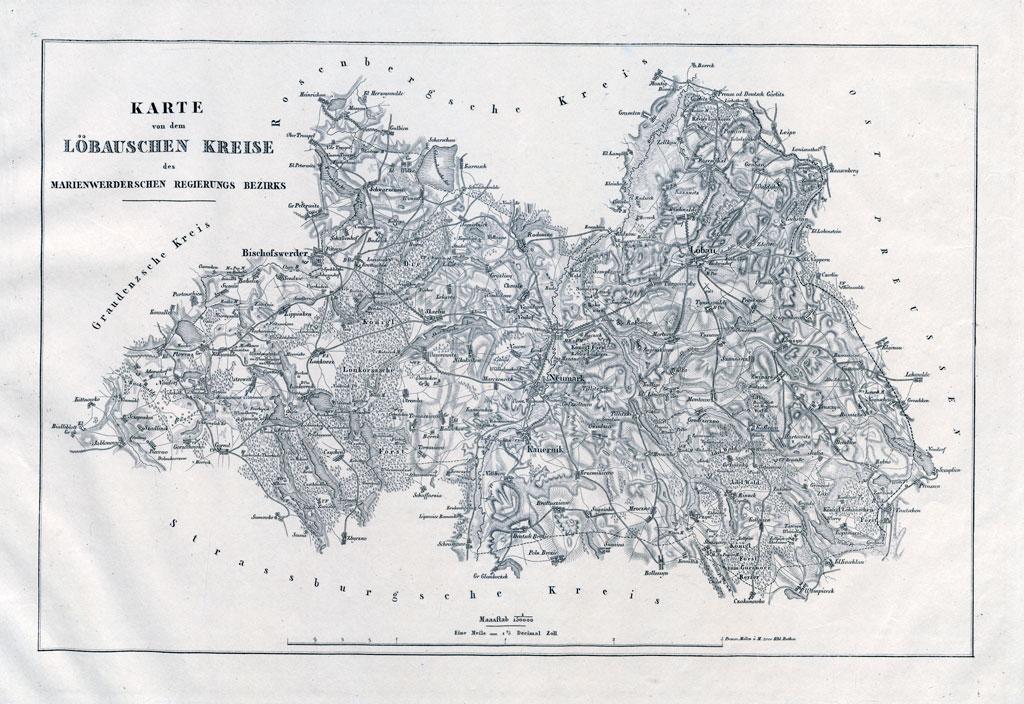 Karte des Löbauschen Kreises (um 1830)