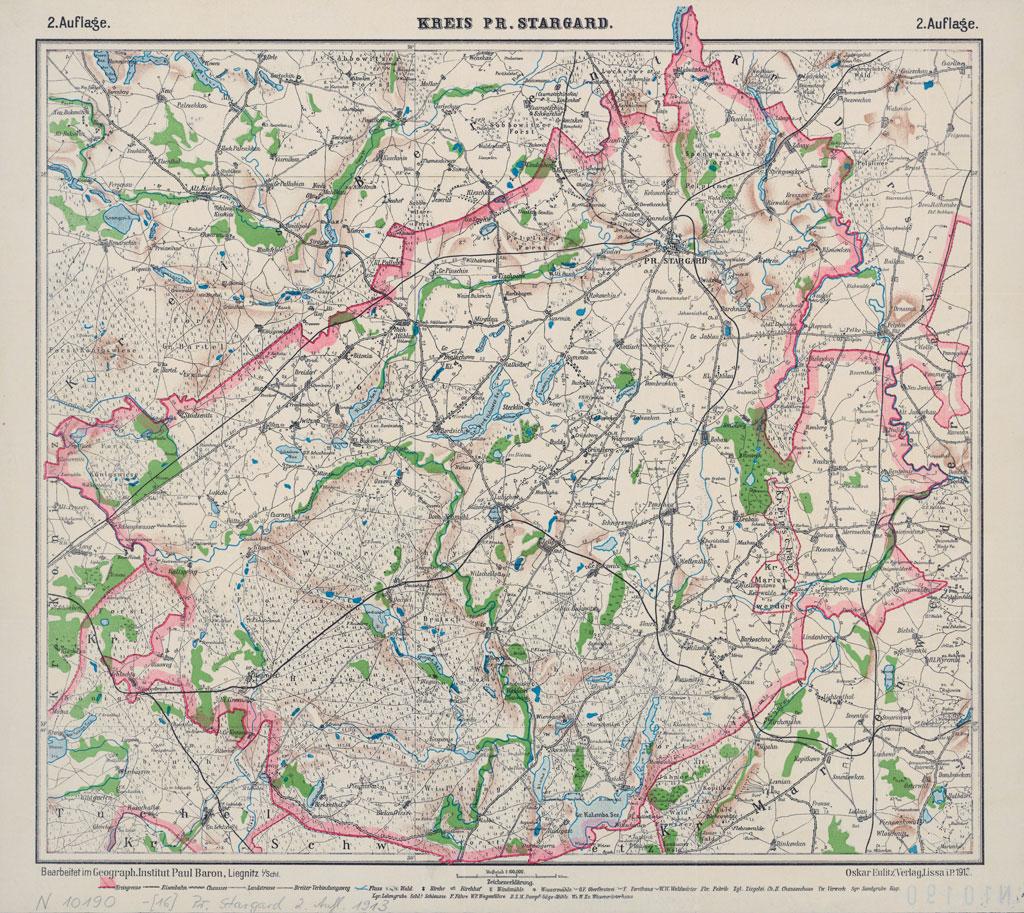 Karte des Kreises Pr. Stargard, 21913