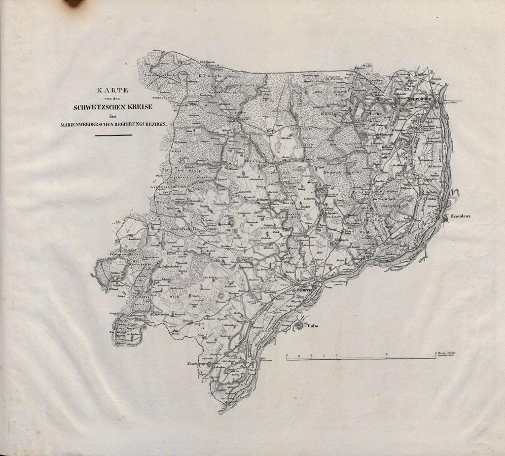 Karte des Schwetzschen Kreises (2. Viertel des 19. Jahrhunderts)