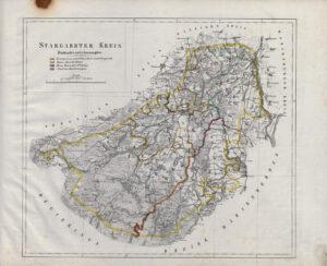 Karte des Stargardter Kreises (2. Viertel des 19. Jahrhunderts)
